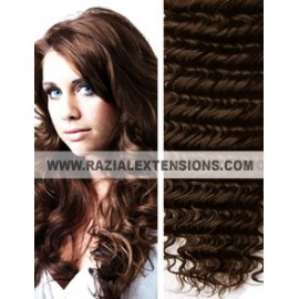 Extensiones Cortina rizadas - 2 MARRÓN CHOCOLATE - 50/55cm