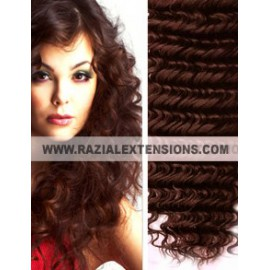 Extensiones Cortina rizadas - 4 MARRÓN - 50/55cm
