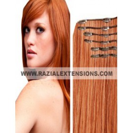 Extensión lisa Clip EXTRALARGA 33 COBRIZO NATURAL