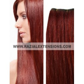EXTENSIONES EXTRALARGAS CORTINA LISAS - 66 CAOBA NATURAL - 70/75CM