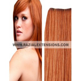 Extensiones cortina lisas - 33 COBRIZO NATURAL - 50/55cm