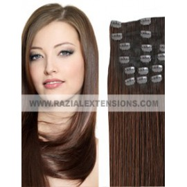 Extensiones clip lisas 2 MARRON CHOCOLATE 50/ 55cm