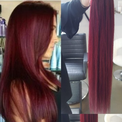 Extensiones Californianas Black/Red